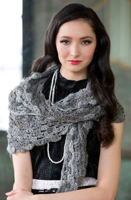 Shades of Grey Scarf in Red Heart Boutique Changes - LW3620 - Downloadable PDF