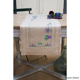 Vervaco Lavender Tablerunner Cross Stitch Kit