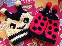 Honey Bumble & Little Lady Bug Hats