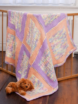 Soft Squares Baby Blanket in Caron Simply Soft & Simply Soft Ombre - Downloadable PDF
