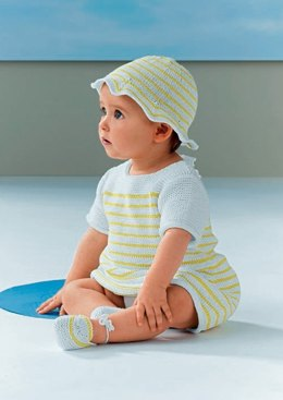 Baby Dress, Hat and Shoes in Bergere de France Coton Fifty - 42723