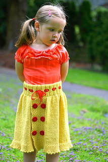 Girl's Belle Skirt in Classic Elite Yarns Verde Collection Seedling