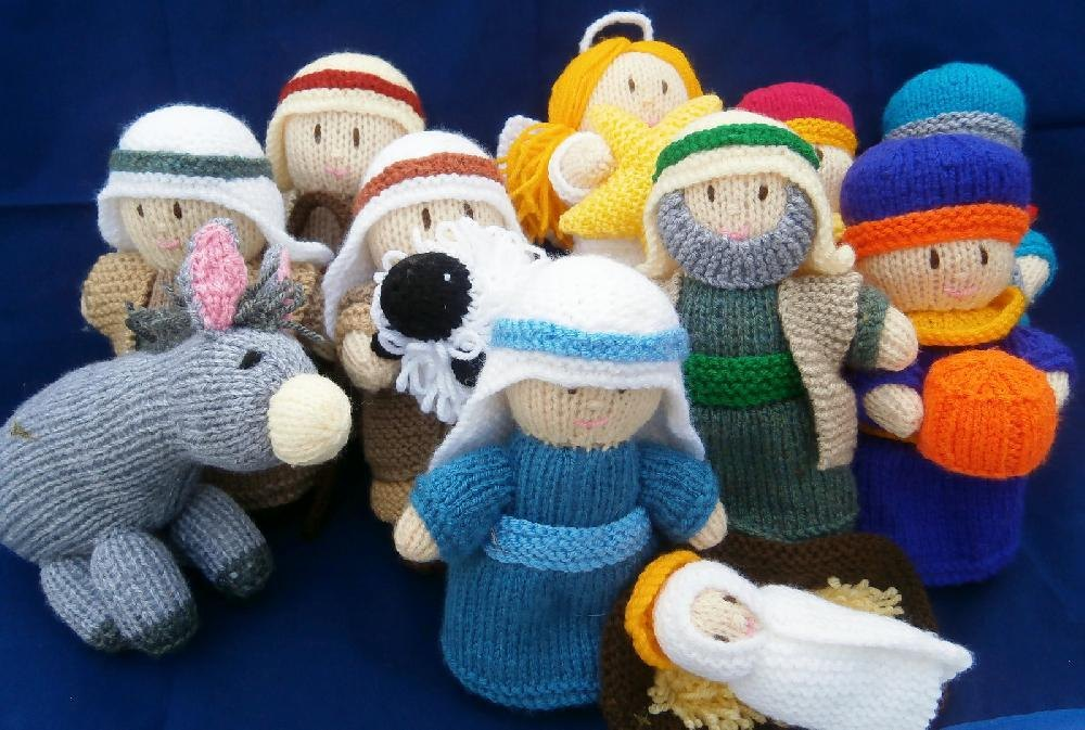 A Knitted Nativity Knitting Pattern By Ann Franklin
