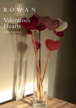 Valentines Hearts Bouquet in Rowan Pure Wool Worsted