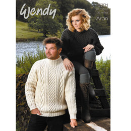 His & Her Sweaters in Wendy Traditional Aran 100g - 5701