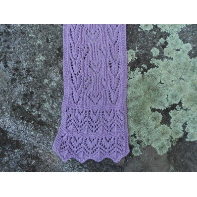 Marie's Amethyst Lace Scarf