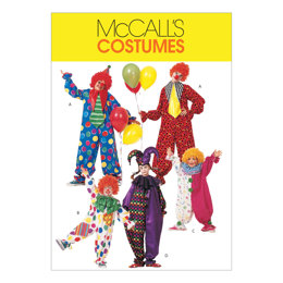 McCall's Children's/Boys'/Girls'/Misses'/Men's/Teen Boys' Clown Costumes M6142 - Sewing Pattern