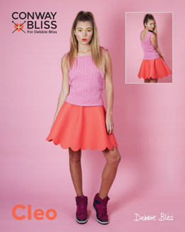 Cable Tank Top in C+B Cleo - Downloadable PDF