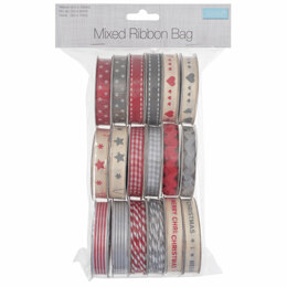 Trimits Ribbon and Trim Bag: Assorted Scandi Christmas Designs: 18 Pieces