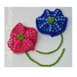 Twisted Tweed Flower Brooch