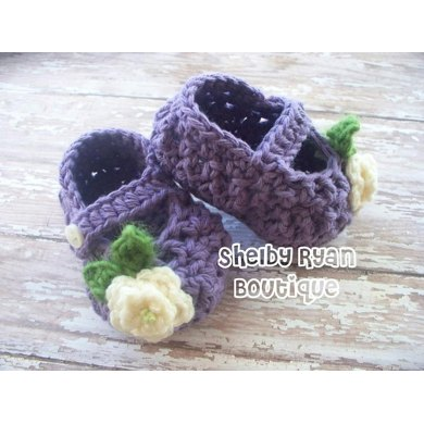 Petite Mary Janes Baby Slippers