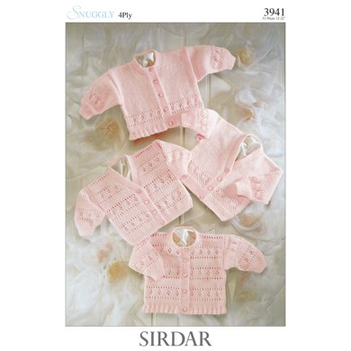 Cardigans in Sirdar Snuggly 4 Ply 50g - 3941 - Downloadable PDF