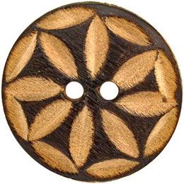 Daisy' Wood 25mm 2-Hole Button