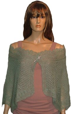 Angel Wings - lace mohair stole