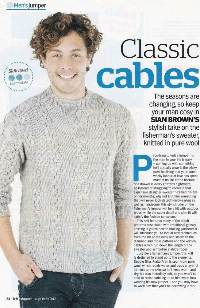 Moss Twist Cable Jumper Knitting pattern by Sian Brown
