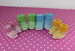 Baby Easy Stripe Booties