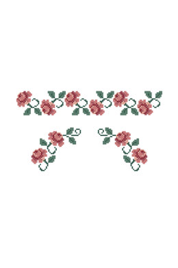 Rose Border in DMC - PAT0166 - Downloadable PDF