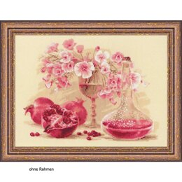 Riolis Pink Pomegranate Cross Stitch Kit - Multi