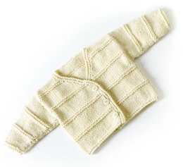 Garter Ridge Baby Cardigan in Lion Brand Cotton-Ease - 70351AD