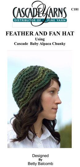 9211867aa0f Feather and Fan Hat in Cascade Baby Alpaca Chunky - C181
