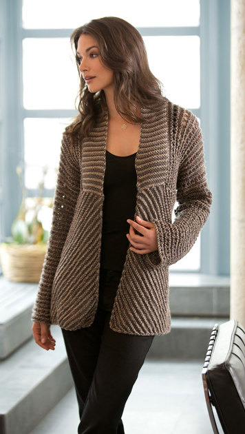 Glamour Jacket In Lion Brand Vanna S Glamour L10351