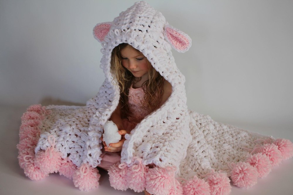 Bulky Amp Quick Hooded Lamb Blanket Crochet Pattern By