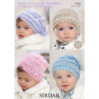Sirdar Knitting Pattern Abbreviations : Babys and Childs Hats in Sirdar Snuggly Baby Crofter DK - 1930 - Do...