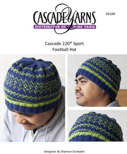 Football Team Hat in Cascade 220 Sport - DK289