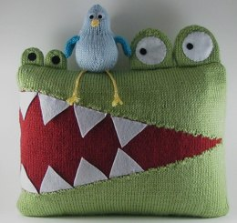Hungry Alligator Pillow