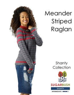 Meander Striped Raglan in Sugar Bush Yarns Shanty - Downloadable PDF