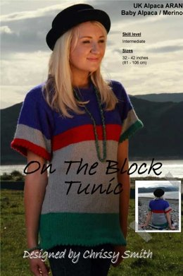 On the Block Tunic in UK Alpaca Baby Alpaca/Merino Aran (Downloadable PDF)