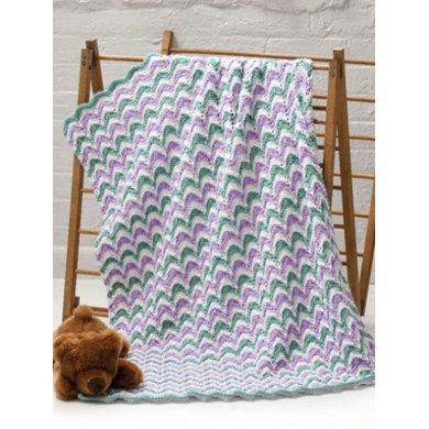 Lace Waves Baby Blanket in Caron Simply Soft - Downloadable PDF