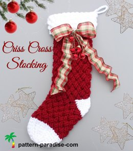 Criss Cross Stocking PDF14-152