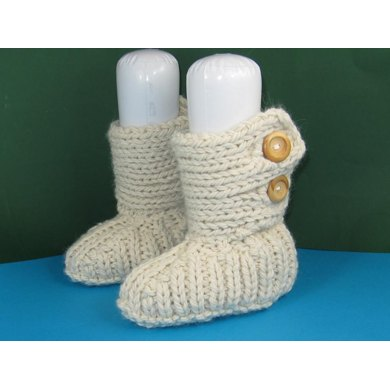 Super Chunky Two Button All Rib TV Slipper Boots