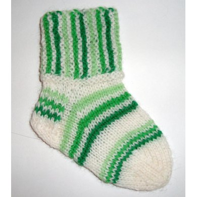 Yipes Stripes Baby Socks Knitting Pattern By Terry Morris