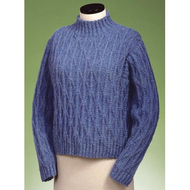 Twisted Cable and Diamond Turtleneck #122
