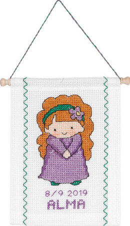 Permin Virgo Baby Star Sign Cross Stitch Kit - Multi