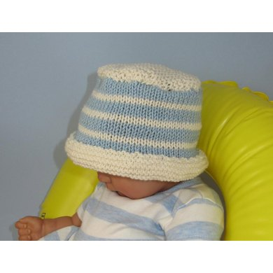 Baby and Child Simple Stripe Bucket Hat