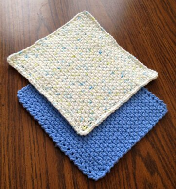 Simple Dishcloth Crochet Pattern By Janis Frank