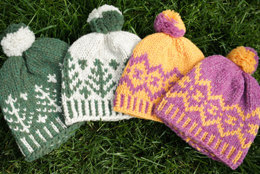 Retro Ski Hats in Imperial Yarn Bulky 2 Strand - F04 (Downloadable PDF)