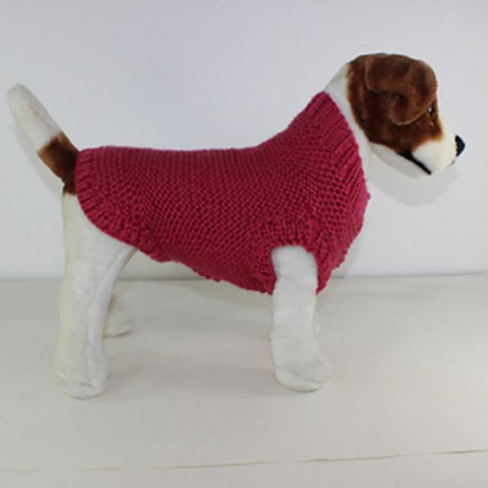 Chunky Garter Stitch Dog Coat Knitting pattern by ...