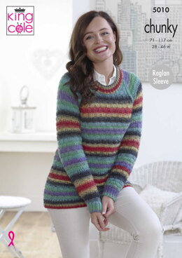 Textured Cardigan & Sweater in King Cole Riot Chunky - 5010 - Downloadable PDF