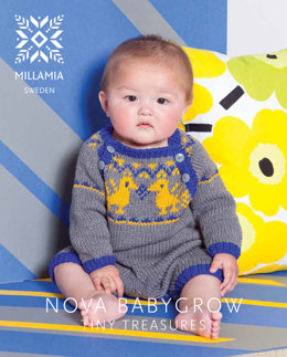 Nova Babygrow in MillaMia Naturally Soft Aran - Downloadable PDF
