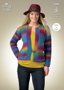 Cardigan and Waistcoat in King Cole Riot DK - 3480