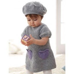 I Heart My Dress and Beret in Patons Beehive Baby Sport - Downloadable PDF