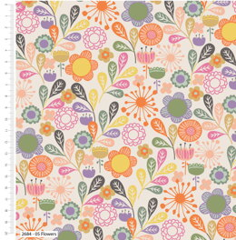 Visage Textiles Little Meadow Birds - Flowers