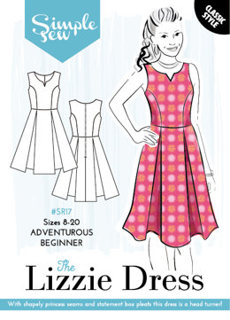 Simple Sew Patterns The Lizzie Dress SR17 - Sewing Pattern