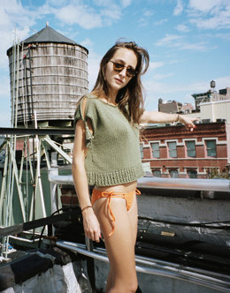Tassel Top in Wool and the Gang Shiny Happy Cotton