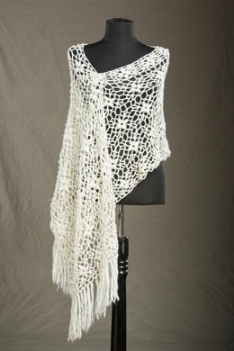 Laurel Crocheted Stole in Rozetti Yarns Polaris - Downloadable PDF