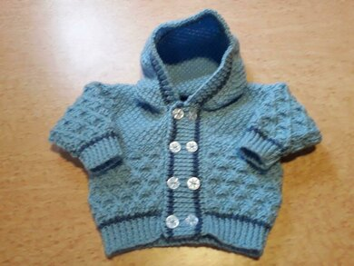 Double breasted baby hoodie